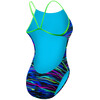 TYR Fresno Cutoutfit Bathing Suit Women blue/multi